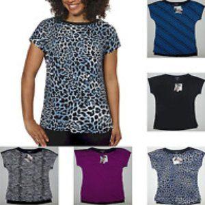 Ellen Tracy Ladies' Animal Print Short Sleeve Top